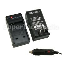 Battery Charger Kit With Car Adapter For Canon Nb-6l Powershot Sd3500 4000 Is