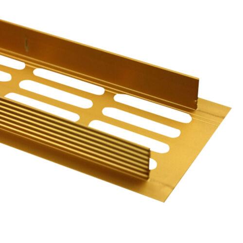 Aluminium Lüftungsgitter Stegblech Gold eloxiert Breite 60mm diverse Längen