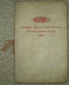 VERY-RARE-1916-DUPONT-GENERAL-SALES-CONVENTION-DINNER-MENU-amp-PROGRAM