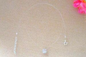 Details about Necklace wire nylon transparent ras neck small diamante  swarovski invisible fishing- show original title