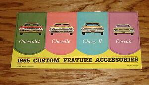 1965 CHEVELLE CUSTOM FEATURE ACCESSORIES  BROCHURE