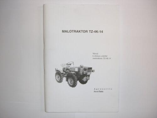 Ersatzteilkatalog Kleintraktor Agrozet TZ-4K14 NEU