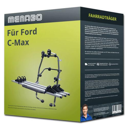 Menabo Fahrradträger Stand Up 3 für Ford C-Max DXA//CB7 II 3 Fahrräder  NEU PKW