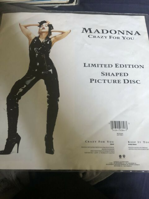 """Madonna - Crazy For You - 7"""" Picture Disc NM/NM Complete with Plinth!"""