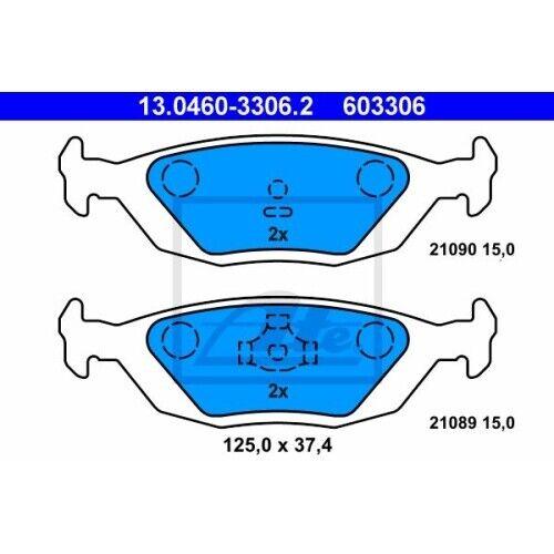 1 Kit de plaquettes de frein, frein à disque ATE 13.0460-3306.2 convient à SAAB