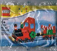 Lego Weihnachtszug Eisenbahn Lok Lokomotive Neu Polybag Christmas Train