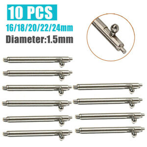 Quick-Release-Spring-Bars-Stainless-Steel-Watch-Band-Strap-Pin-Bar-16-24mm-10pcs