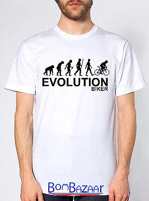 Temperato T Shirt Evolution Biker Maglietta Divertente Cotone Fruit Of The Loom