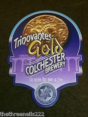 BEER PUMP CLIP COLCHESTER TRINOVANTES GOLD