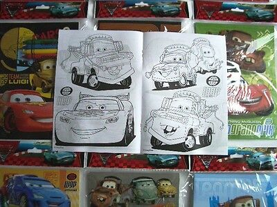 12 Disney Pixar Cars Coloring Book + 48 Crayon Kid's Birthday Party Favor Supply