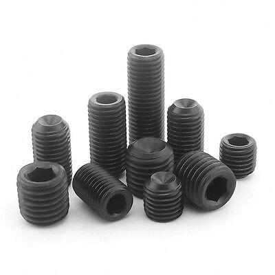 "12.9 High Tensile 5//8/"" UNC Grub Allen Socket Set Screws Cup Point 3//8/"" 1//2/"""