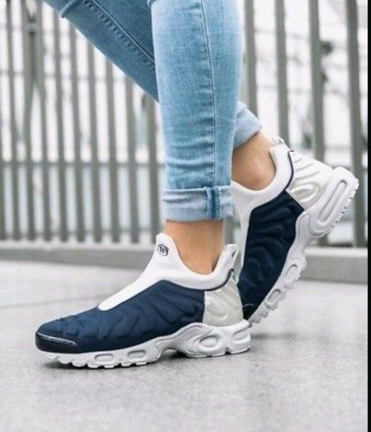 6 damen Nike Air Max Plus Slip SP TN 940382 400 MIDNIGHT NAVY METALLIC Silber