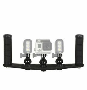 Underwater Camera Tray With Handles For Gopro And Knog