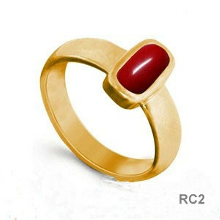 5 CT RED CORAL Excellent Quality Copper Ring RC2 LM