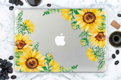 Sunflower Macbook 12 Hard Case For New Mac Air 13 Inch Floral Cover Macbook Pro