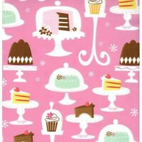 Cakes & Cupcakes Heavy Embossed Gift Wrapping Paper - Two 6 Ft Sheets