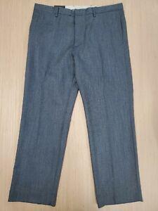 566 Para Hombre Banana Republic Adaptado Slim Fit Pantalones De Vestir 38x32 100 Lana Gris Ebay
