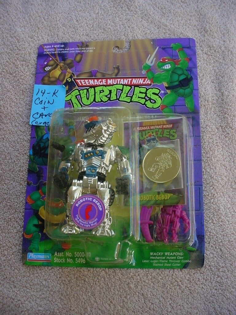 Tmnt  ROBOTIC BEBOP --- W/ COLLECTIBLE CARD AND COIN