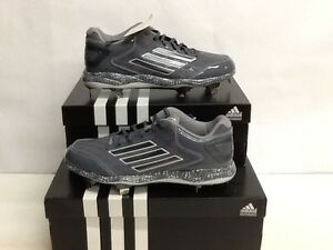 newest def0e a5e01 Image is loading NIB-Adidas-PowerAlley-2-Metal-Low-Baseball-Cleats-