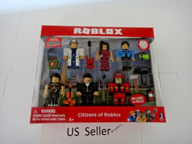 Fire Dept Doc Robber Citizens of Roblox Six Figure 14 pcs Pack Scarlet Cop