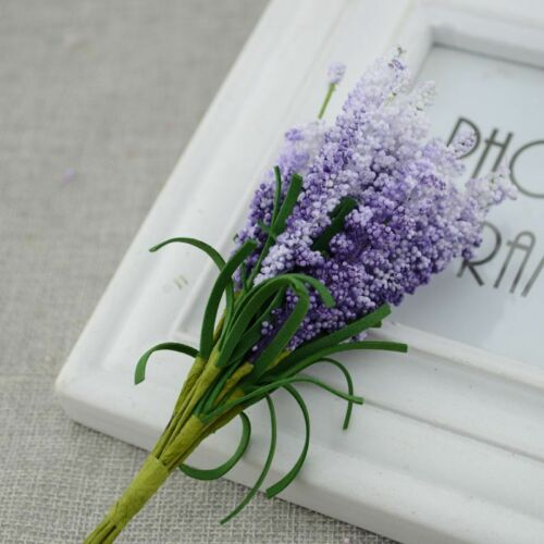 Artificial Lavender Fake Flower Decoration Wedding Bouquet Plant Bride Table New