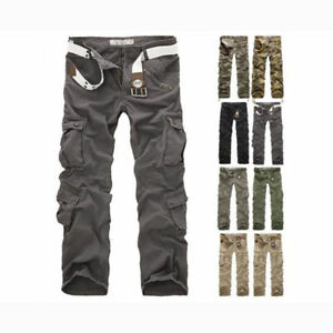 Combat-Men-039-s-Cotton-Cargo-Army-Pants-Military-Camouflage-Camo-Trousers-Outdoor