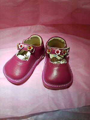Girls Shoes Pipsqueaks AKA Rainbow Steps HOT PINK Sunflower Toddler DONT SQUEAK!