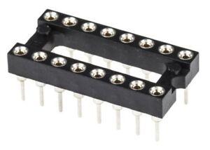 Lot de supports TULIPE pour circuit intégré 16 broches, lot au choix.   DIP 16