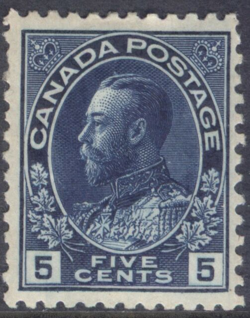 CANADA 111 1914 5c DARK BLUE KING GEORGE V ADMIRAL MPH CV$185
