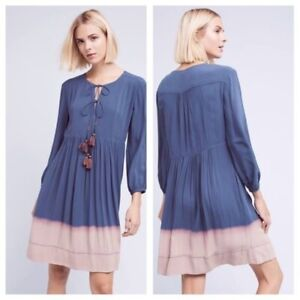 138-New-Anthropologie-Dip-Dye-Peasant-Dress-By-Holding-Horses-Sz-4-6-8-10