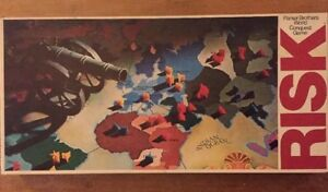 Vintage-Parker-Brothers-1975-034-Risk-034-World-Conquest-Board-Game-Complete-clean