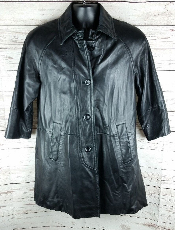 Valerie Stevens New Zealand Soft Lambskin Womens Small Leather Coat