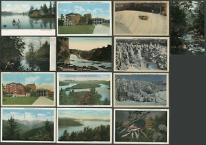 Thirteen-c-1906-30s-Postcards-ADIRONDACK-MOUNTAINS-Various-Views-Nice-Lot