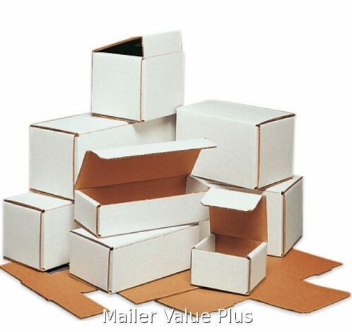 100-7 x 4 x 3 White Corrugated Shipping Mailer Packing Box Boxes