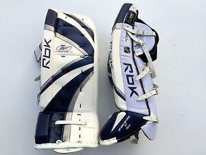 Reebok Premier Pro Hockey Goalie Leg Pads Intermediate 31 Navy