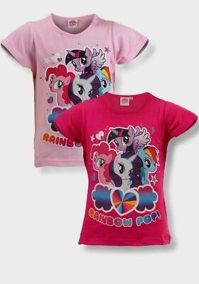 Girls My little pony top tshirt Cerise Pink Short Sleeve 2 3 4 5 6 years