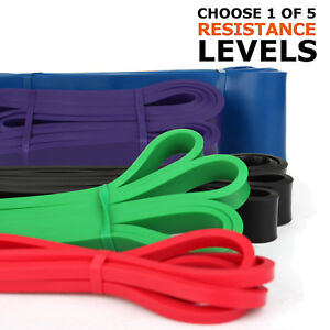 5SET-HEAVY-DUTY-RESISTANCE-BAND-LOOP-POWER-GYM-FITNESS-EXERCISE-YOGA-WORKOUT-LOT