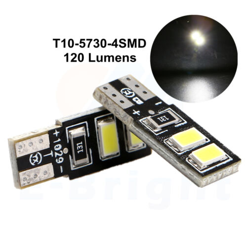 2 x T10 4 SMD W5W 501 SIDE NUMBER PLATE INTERIOR LIGHT CREE COB XENON BULBS