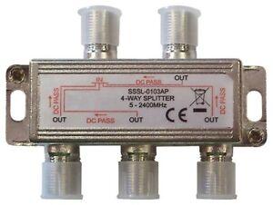 Repartiteur-TV-SAT-pour-Connecter-Jusqu-039-a-4-Decodeurs-Terrestres-ou-Satellites
