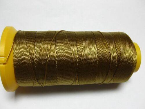 One Spool Goldenrod Nylon Beading Thread String 210D//12,9,6,3 Pick Your Size
