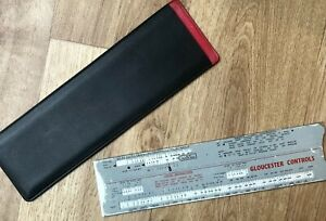 Vintage Gloucester Controls SLIDE RULE in pouch