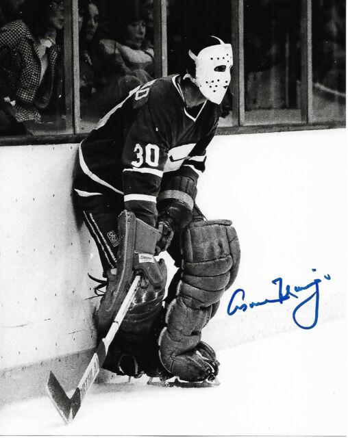 Vancouver Canucks Cesare Maniago Signed Autographed 8x10 Photo COA B