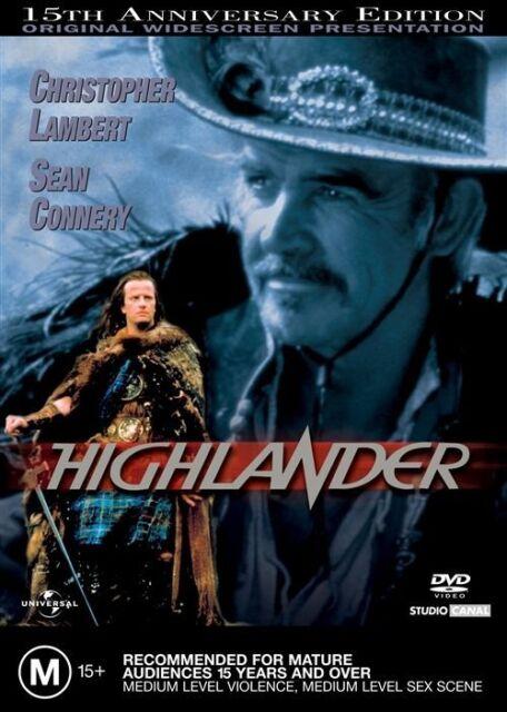 HIGHLANDER (Sean CONNERY Christopher LAMBERT) ACTION Film DVD NEW SEALED Reg 4