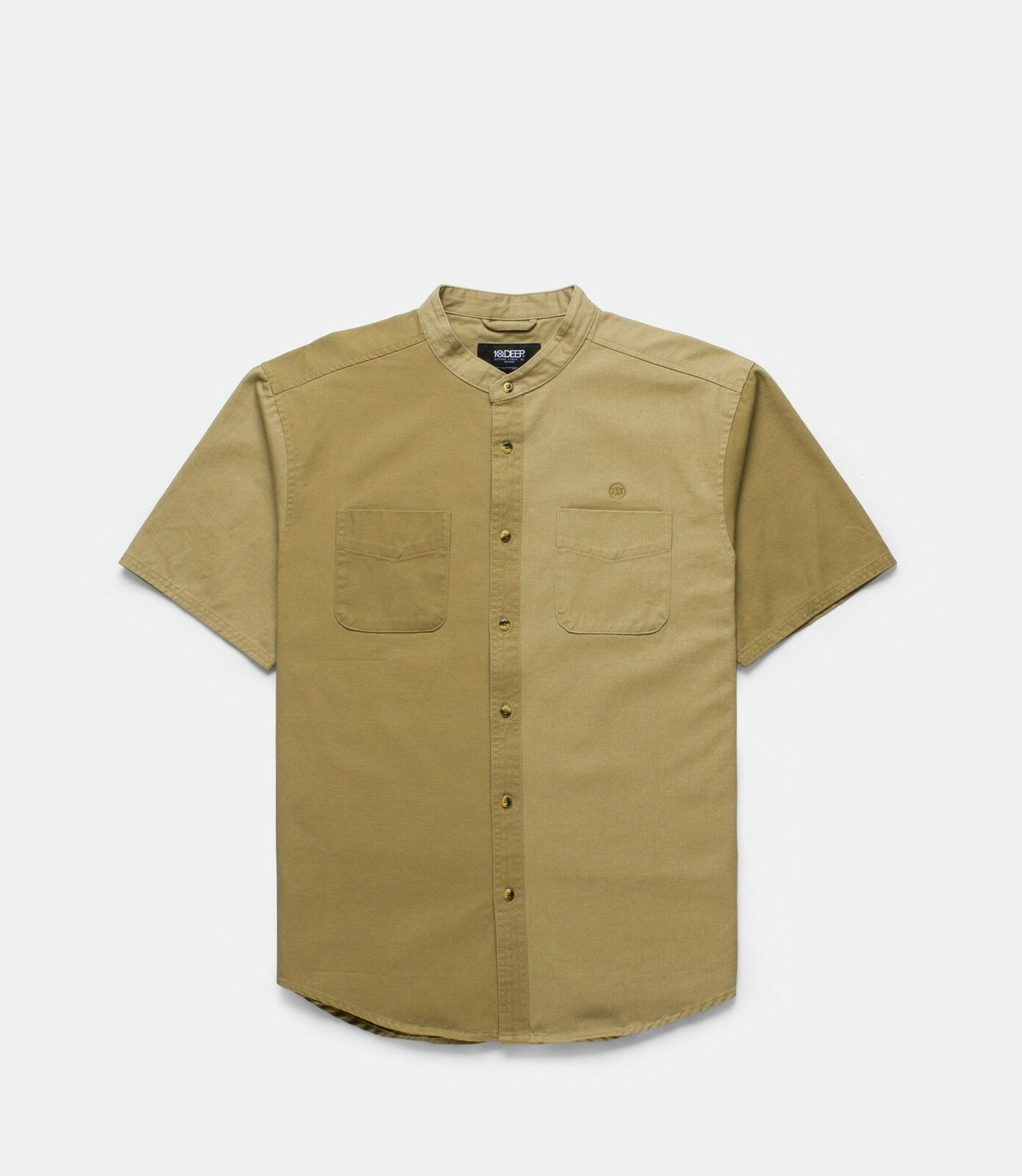 10 Deep Men Ying Yang Split Shirt khaki
