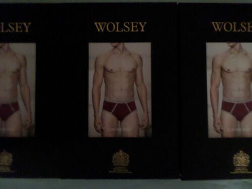 ORANGE SUMMER COTTON LOW RISE BRIEFS  XL XXL 3 pair WOLSEY RED ROUGE