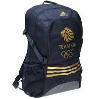 Adidas Team Gb Olympic Backpack Navy/gold Rucksack Sports Bag Gymbag Kitbag