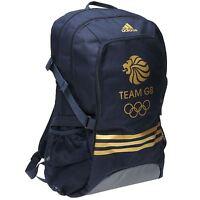Adidas Team Gb Olympic Backpack Navy/gold Rucksack Sports Bag Gymbag Kitbag