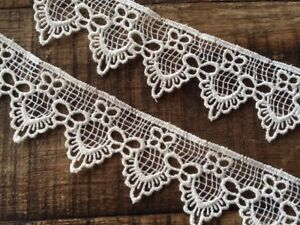 "laverslace Pretty Pale White Venise Guipure Lace Trim 1.5/""//3.5cm"