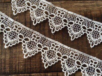 laverslace White Teardrop Venise Guipure Lace Trim 1cm sewing crafts