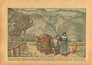 Poster-Tyrol-Monastere-Tyrolean-Mountain-Nuns-Monastery-sister-1933-ILLUSTRATION